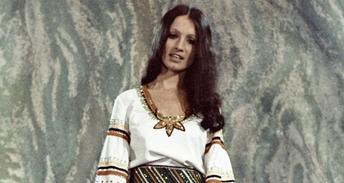 La cantante Sofía Rotaru el año 1975