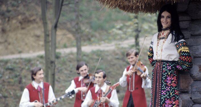 La cantante Sofía Rotaru el año 1973