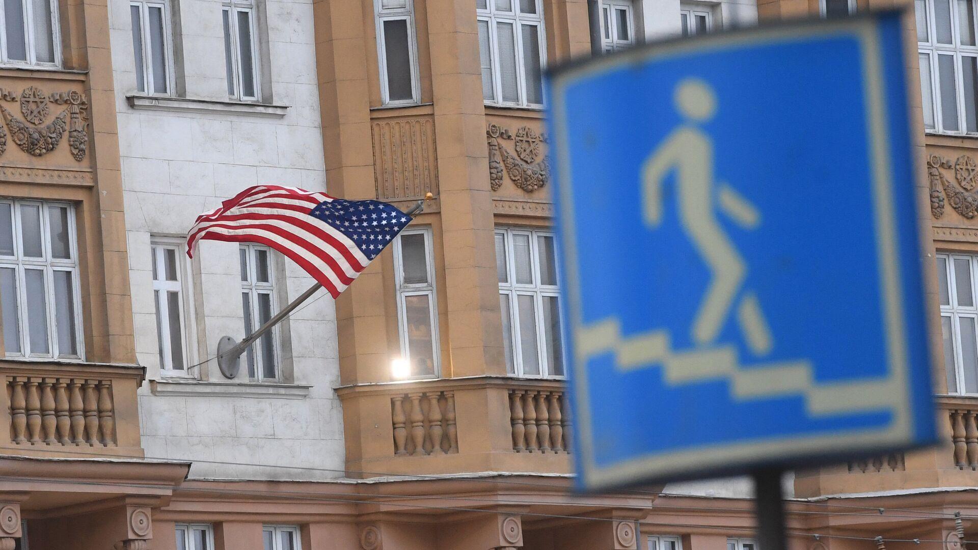El edificio de la Embajada de EEUU en Moscú, Rusia - Sputnik Mundo, 1920, 16.04.2021