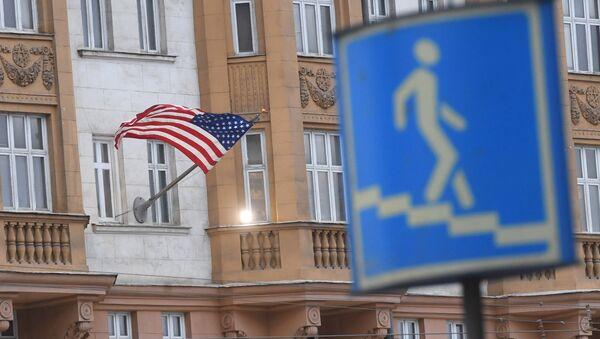El edificio de la Embajada de EEUU en Moscú, Rusia - Sputnik Mundo