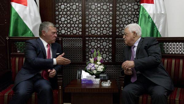 Reunión de Abdalá II y Mahmud Abás - Sputnik Mundo
