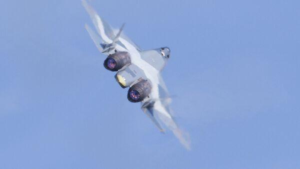 Un avion T-50 (archivo) - Sputnik Mundo