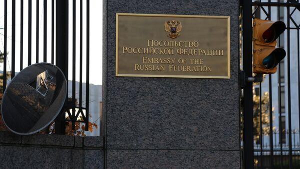 El edificio de la Embajada de Rusia en EEUU - Sputnik Mundo