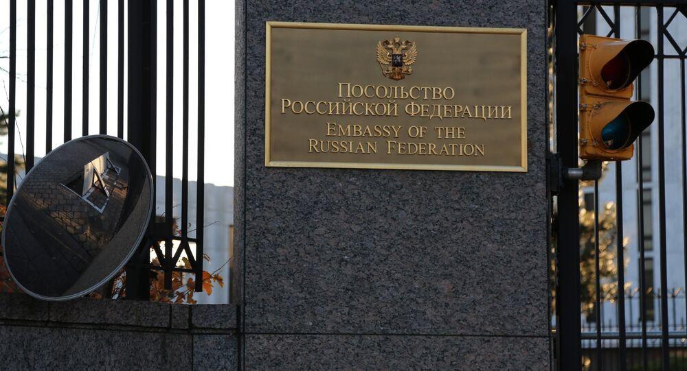 El edificio de la Embajada de Rusia en EEUU