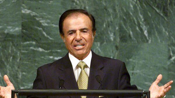 Carlos Menem, expresidente de Argentina - Sputnik Mundo