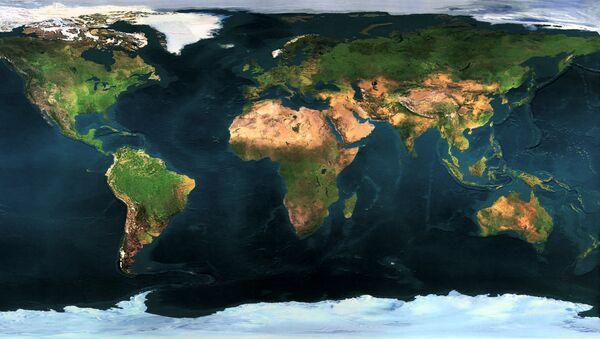 Un mapa de la Tierra - Sputnik Mundo