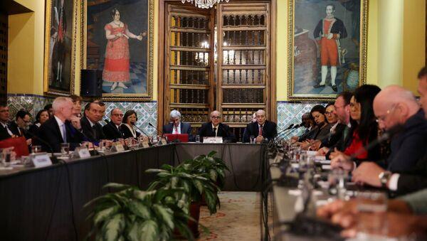 Ministros de Exteriores de los países americanos durante la reunión en Lima - Sputnik Mundo