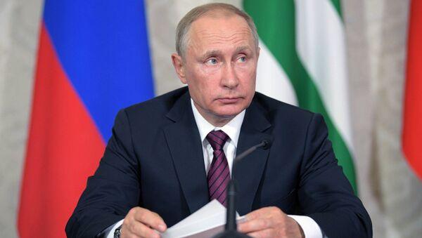 Vladímir Putin, presidente de Rusia, durante su visita a Abjasia - Sputnik Mundo