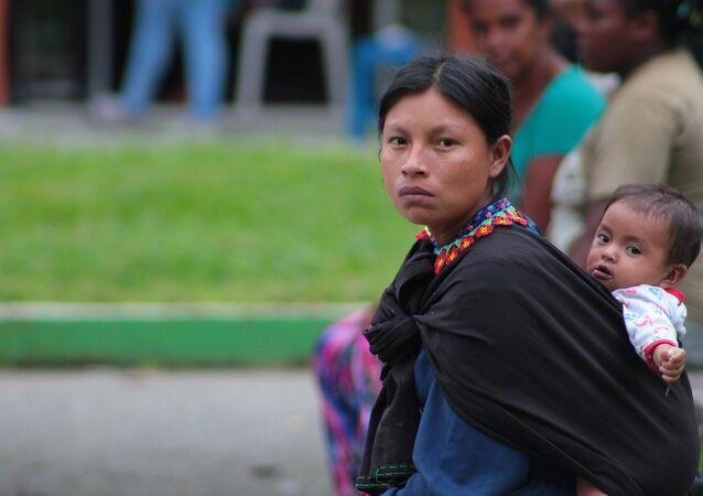 Una mujer indígena (archivo)