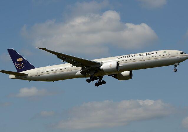 Un avión de la compañía aérea Saudia