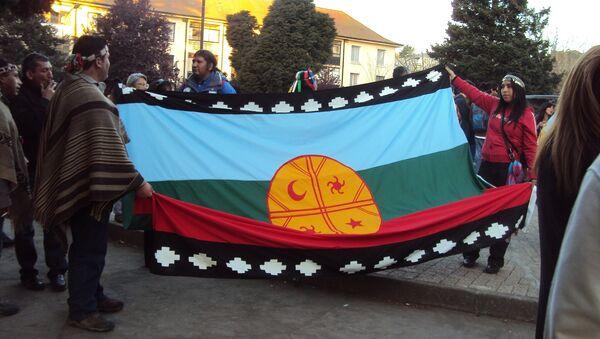 La bandera de mapuche (archivo) - Sputnik Mundo