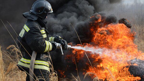 Incendios forestales en Rusia (archivo) - Sputnik Mundo