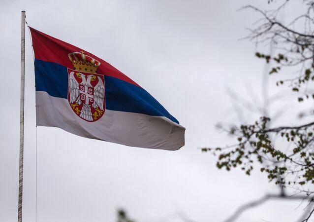 Bandera de Serbia (archivo)