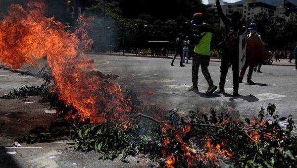 Protestas en Caracas, la capital de Venezuela (archivo) - Sputnik Mundo