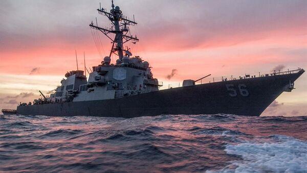 Un destructor USS John S. McCain - Sputnik Mundo