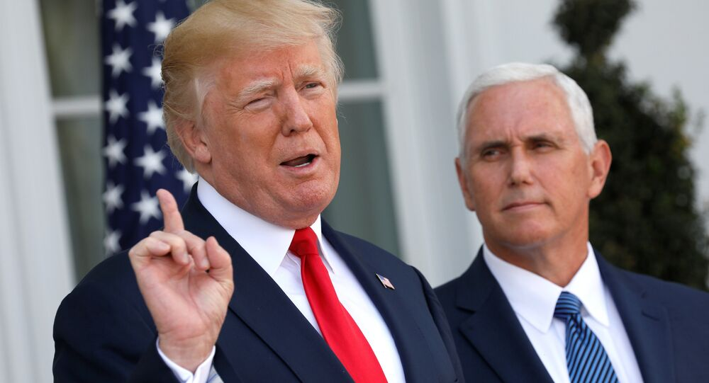 Donald Trump, presidente de EEUU, con vicepresidente Mike Pence