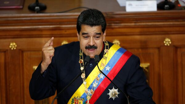 Venezuela's President Nicolas Maduro gestures as he speaks during a session of the National Constituent Assembly - Sputnik Mundo