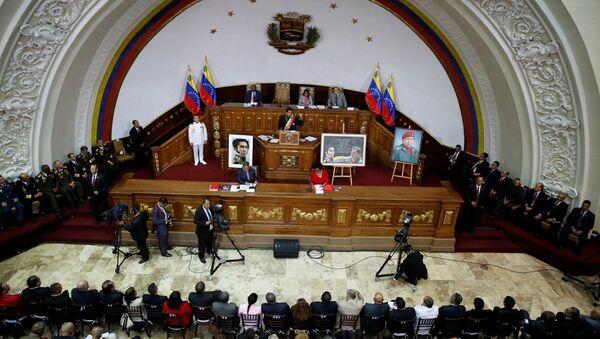 Nicolás Maduro, presidente de Venezuela, durante su asistencia a una sesión de la Asamblea Nacional Constituyente - Sputnik Mundo