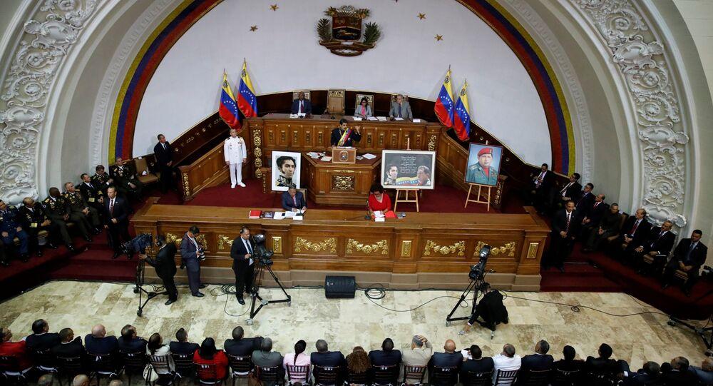 Nicolás Maduro, presidente de Venezuela, durante su asistencia a una sesión de la Asamblea Nacional Constituyente (archivo)