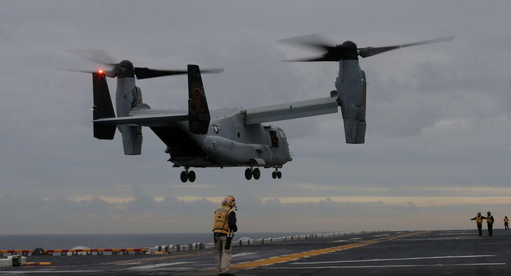 Convertiplano estadounidense Osprey (imagen referencial)