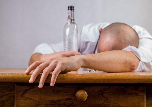 Un hombre borracho