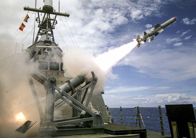Misiles antibuque Harpoon Block 1C (imagen referencial)