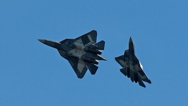 Cazas rusos Su-57 - Sputnik Mundo