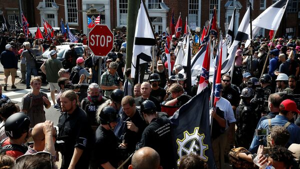 Manifestación ultraderechista en Charlottesville, EEUU - Sputnik Mundo