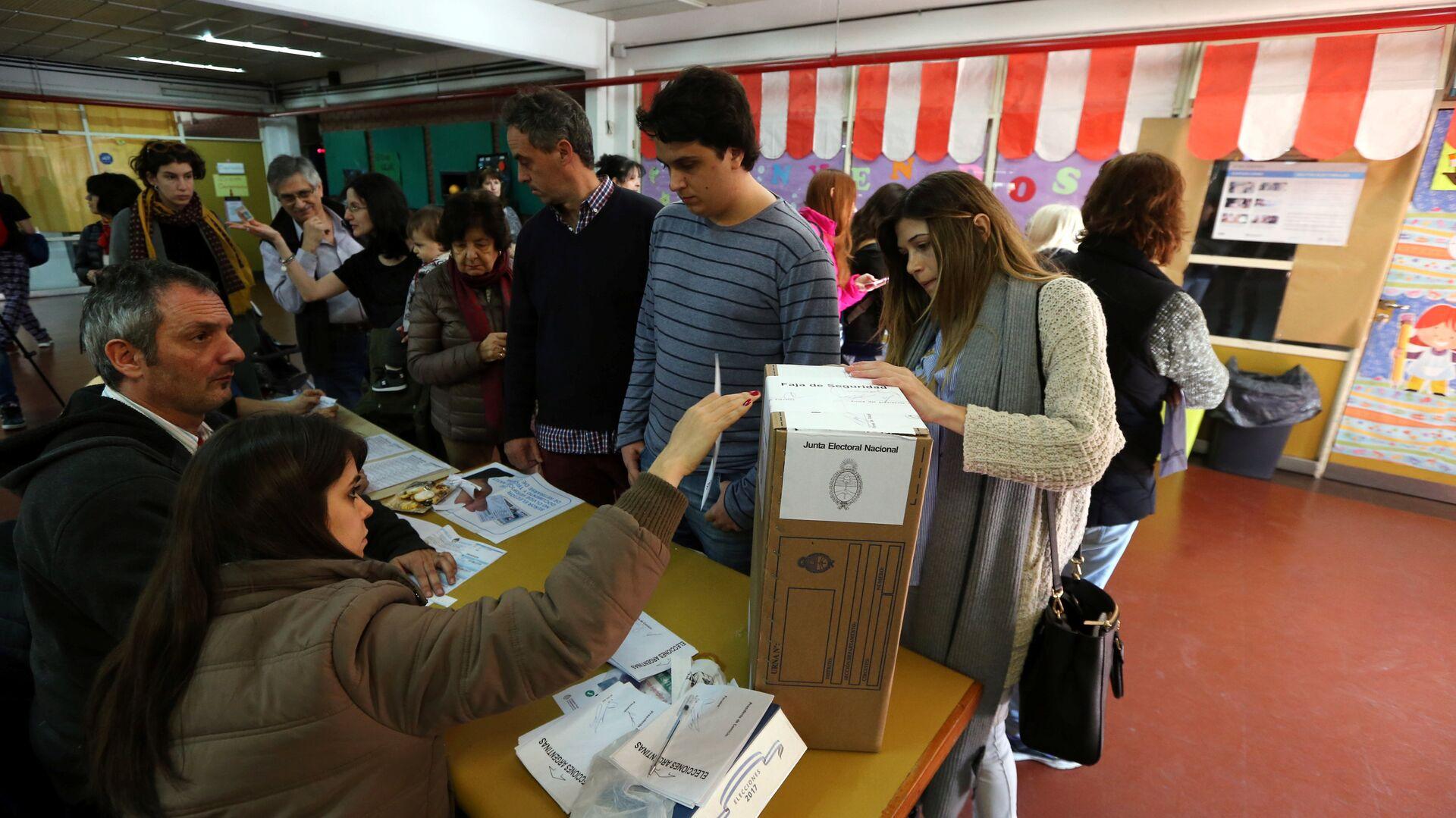 Los argentinos votan en las PASO en Buenos Aires, Argentina - Sputnik Mundo, 1920, 20.05.2021