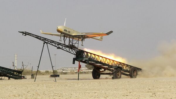 Un dron iraní (archivo) - Sputnik Mundo