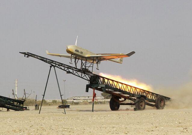 Un dron iraní (archivo)