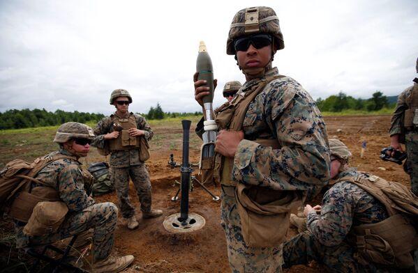 Efectivos de la Infantería de Marina estadounidense, en plenas maniobras en la isla de Hokkaido - Sputnik Mundo