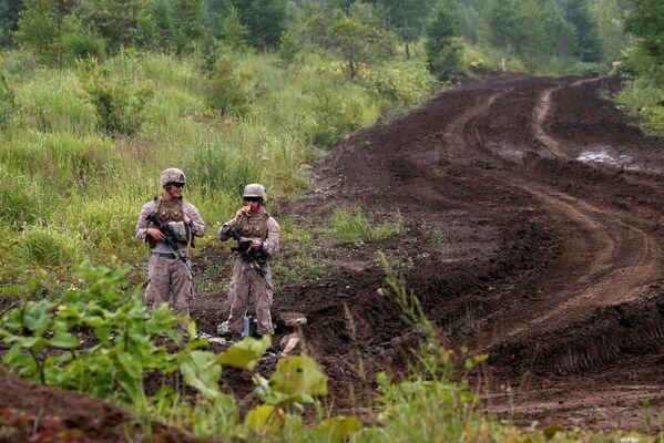 Los efectivos de la Infantería de Marina de EEUU toman parte en el simulacro en Hokkaido - Sputnik Mundo