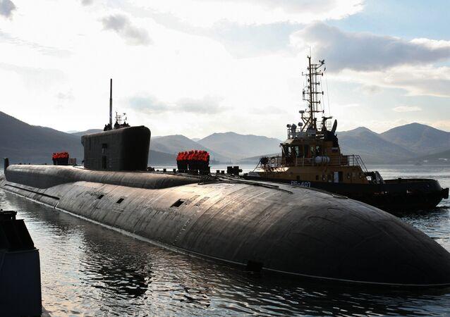 El submarino nuclear Vladímir Monomaj de la clase Borei (imagen referencial)