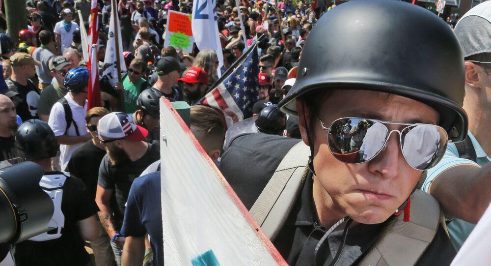 Manifestación ultraderechista en Charlottesville, EEUU