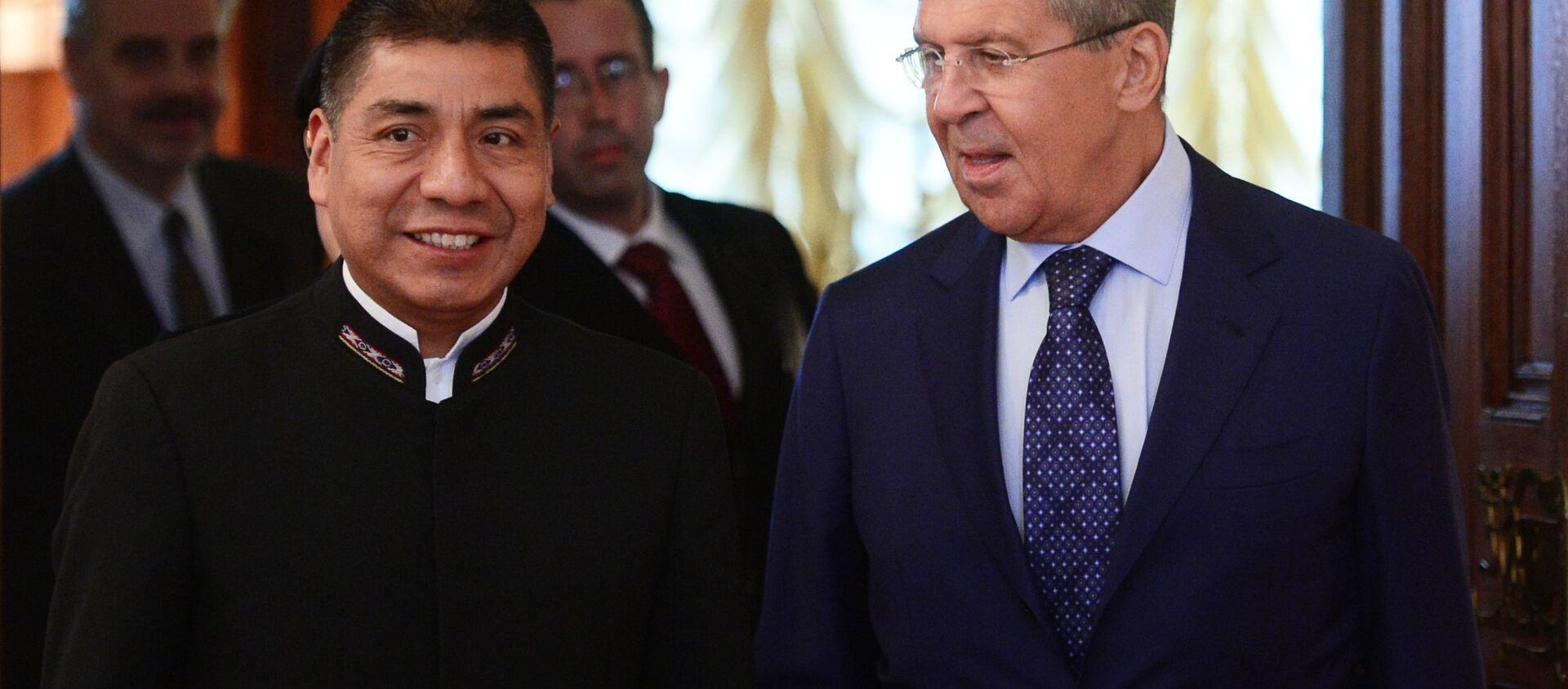 Встреча глав МИД РФ и Боливии С. Лаврова и Ф. Уанакуни Мамани - Sputnik Mundo, 1920, 16.08.2017