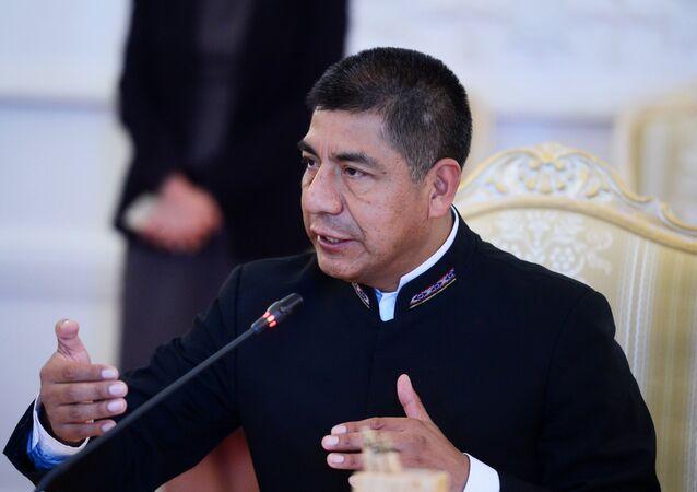 Fernando Huanacuni Mamani, ministro de Exteriores de Bolivia