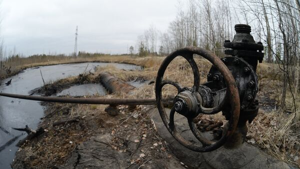 Una válvula de un antiguo oleoducto - Sputnik Mundo
