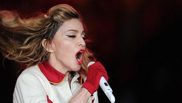 La cantante Madonna en un concierto en el complejo deportivo Olympiysky en Moscú, en 2012. (Archivo) - Sputnik Mundo
