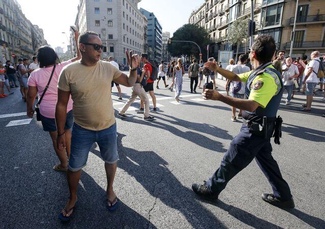 Las Ramblas, Barcelona, donde se produjo el atentado