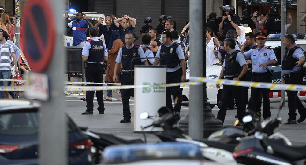 Lugar del atentado en Barcelona