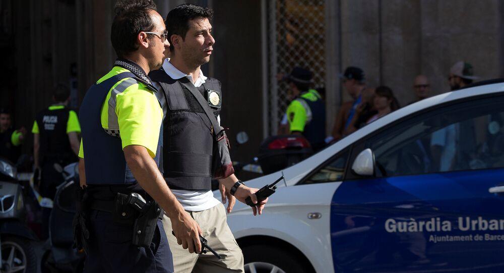 Policías en Barcelona