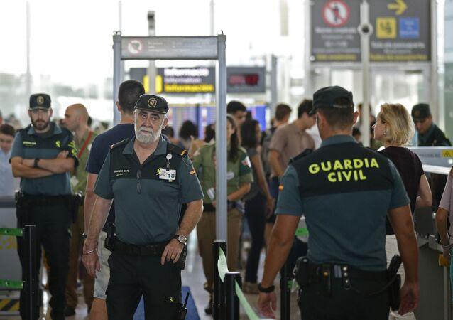 Guardia Civil en el aeropuerto de Barcelona (archivo)