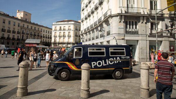 La Policía española en Madrid - Sputnik Mundo