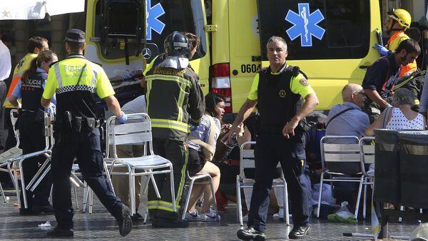 Los heridos del atentado de Barcelona - Sputnik Mundo