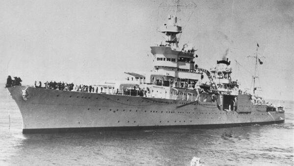 El buque USS Indianapolis (archivo) - Sputnik Mundo