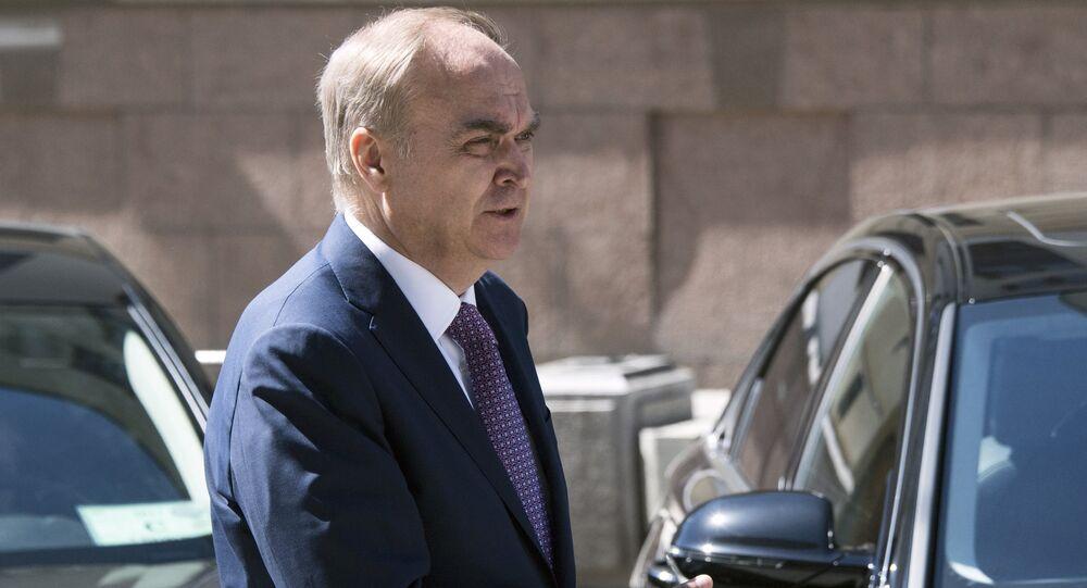 El embajador de Rusia en EEUU Anatoli Antónov