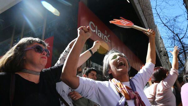 Chilenos celebran la despenalización parcial del aborto en Santiago - Sputnik Mundo