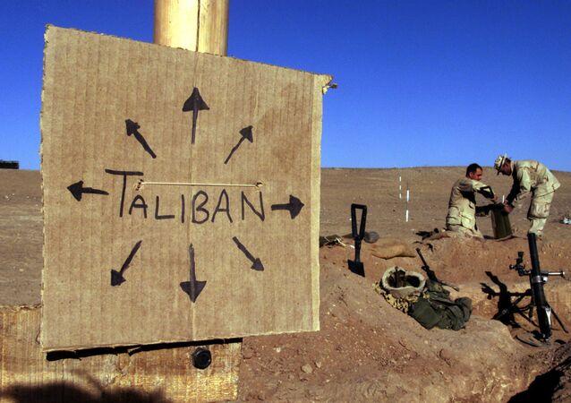 Una cartel Talibán en Afganistán (imagen referencial)