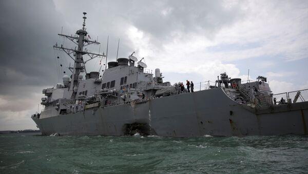 Destructor estadounidense USS John S. McCain - Sputnik Mundo
